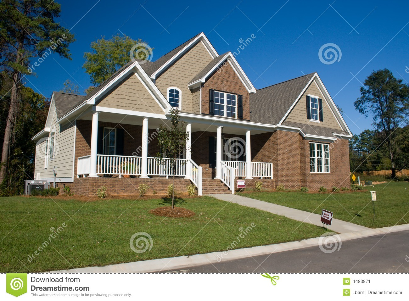 Custom Brick Home 7 Stock Image Image 4483971