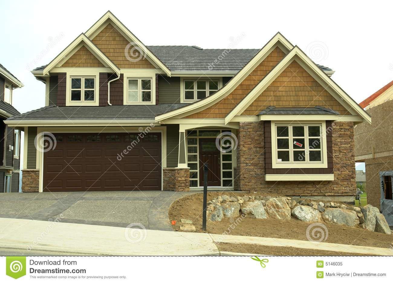 Custom Built Home House Front Royalty Free Stock Photo: custom build a house online