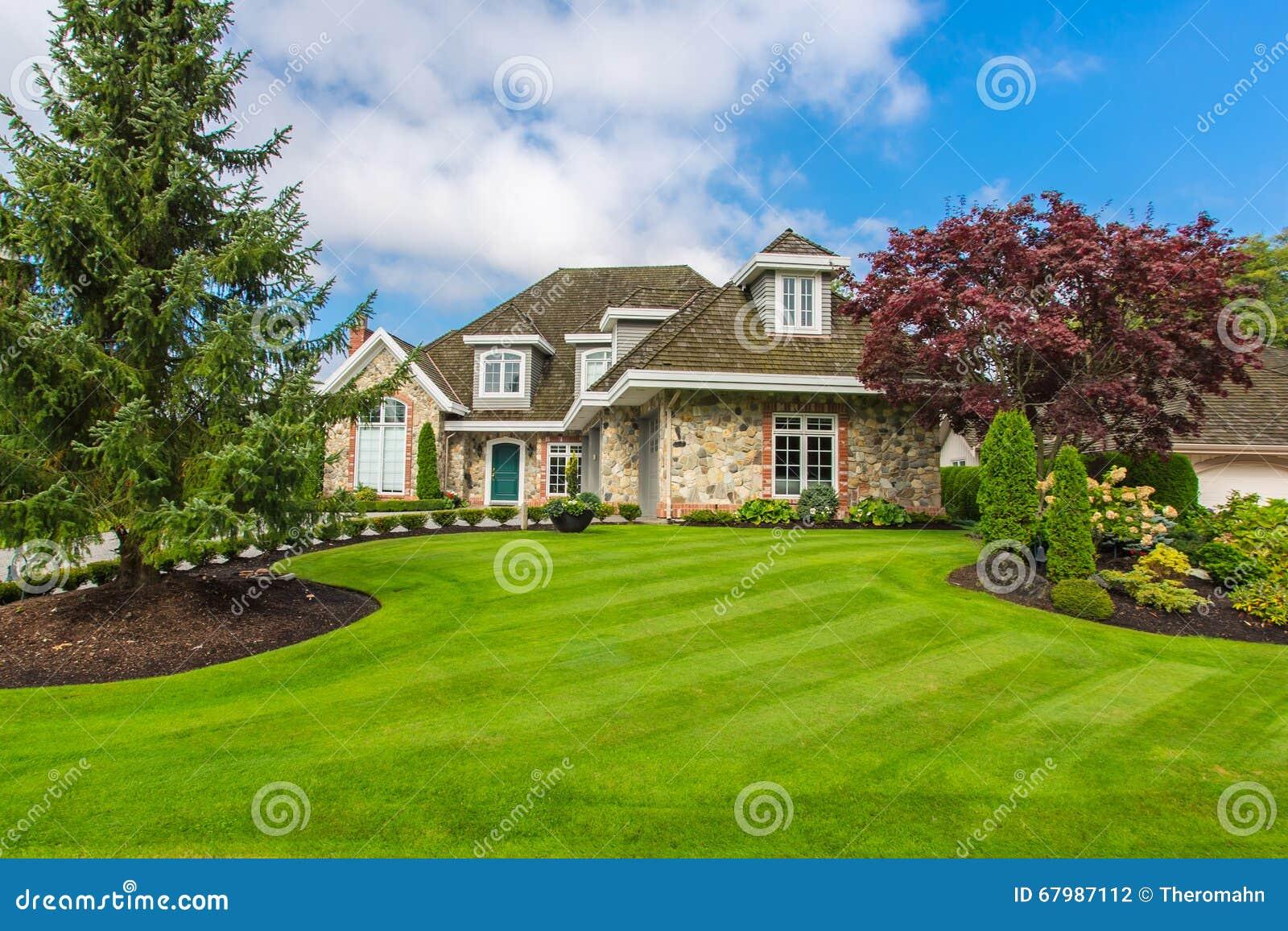 Custom Built House Stock Photo Image 67987112