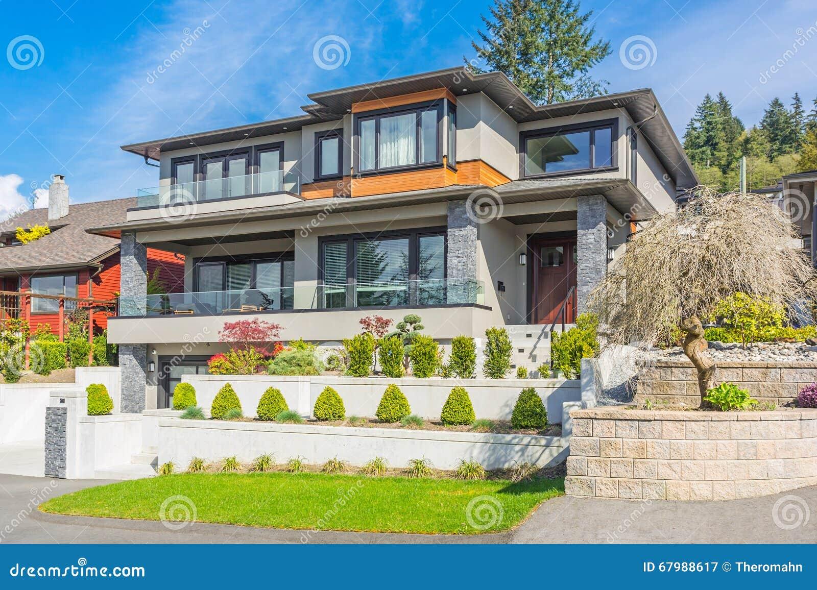 Custom Built House Stock Photo Image 67988617
