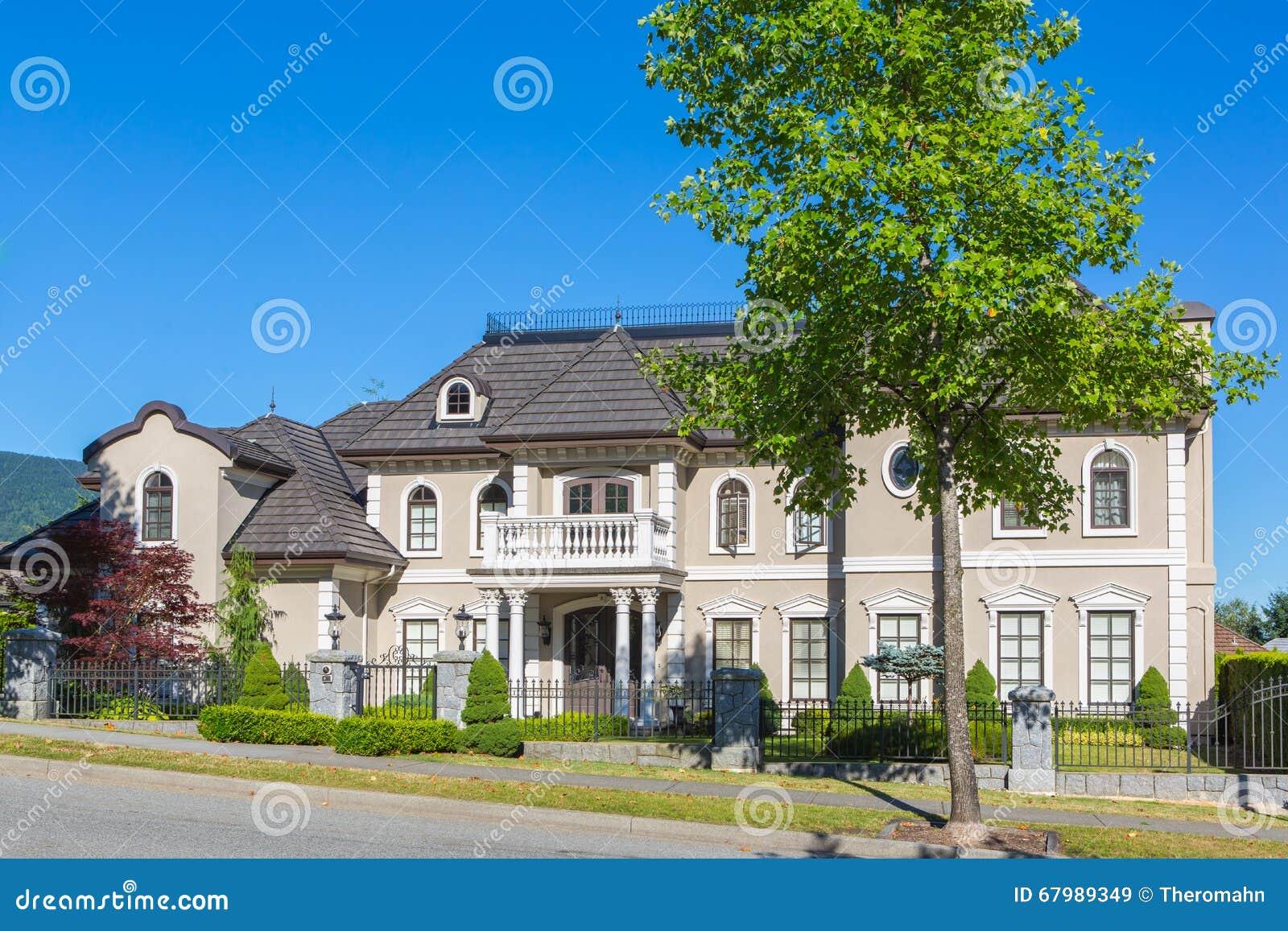 Custom built house stock photo image 67989349 for Custom designed homes