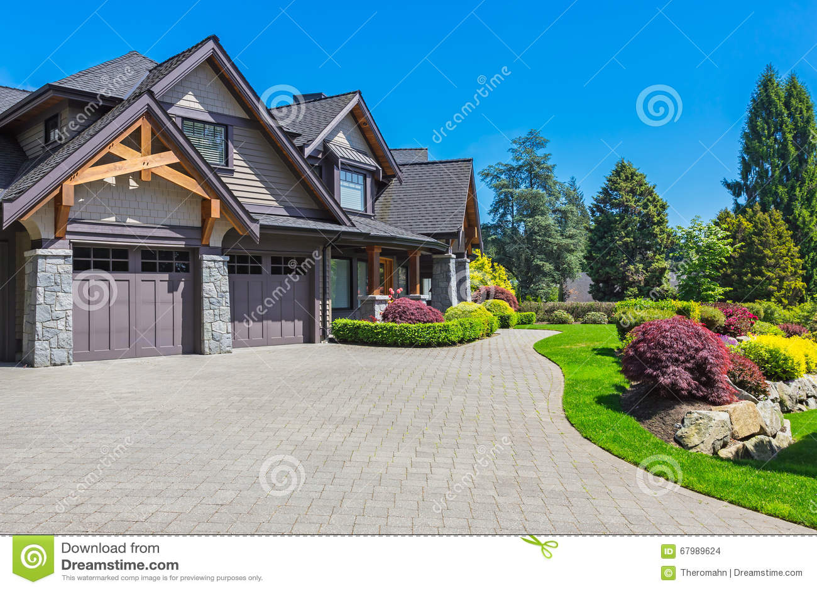 Custom Built House Stock Photo Image 67989624