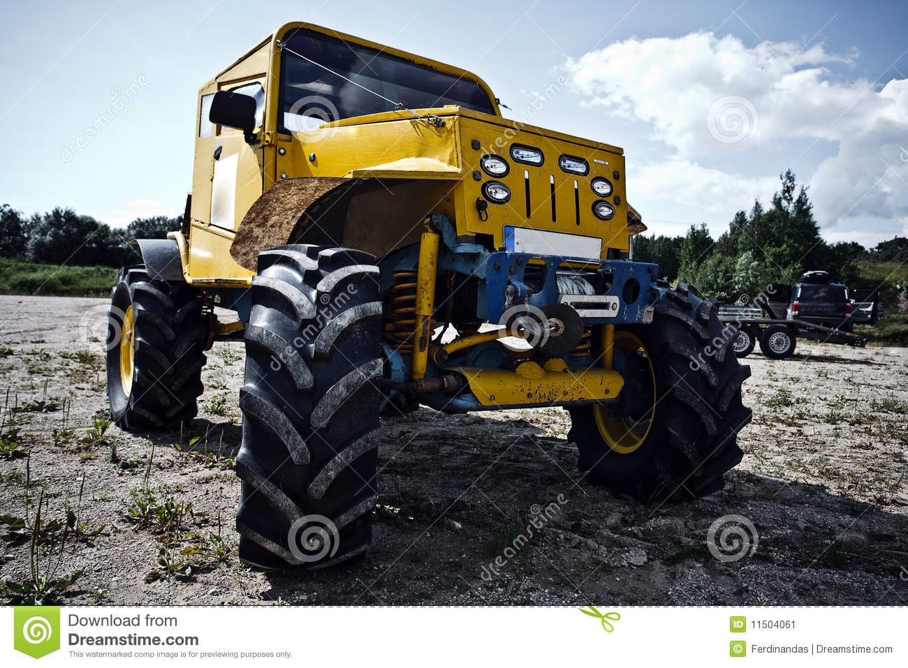 Custom Built Truck Before Off Road Competition Stock Image