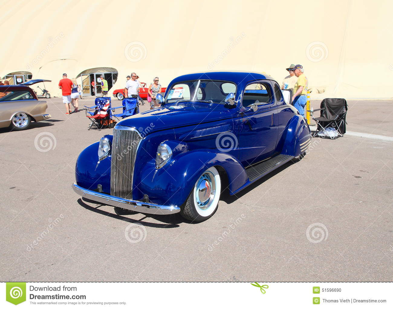 Custom Car 1937 Chevy With Rumble Seat
