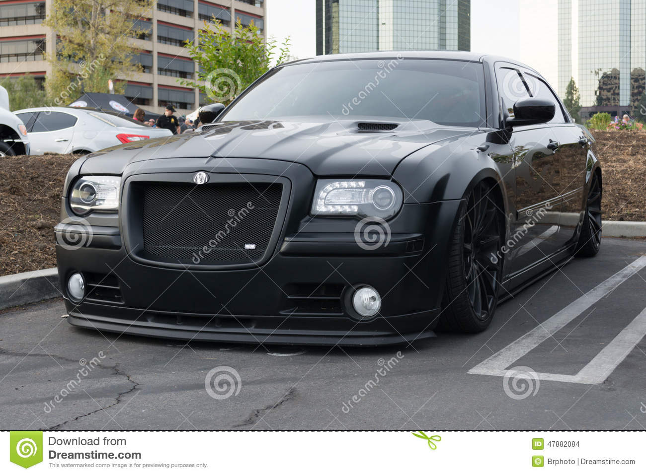 custom chrysler 300c on display editorial stock image image of racing advertising 47882084. Black Bedroom Furniture Sets. Home Design Ideas
