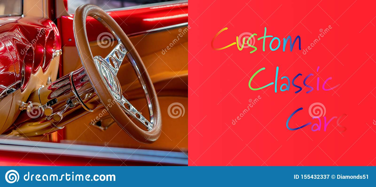Custom Classic Vintage Interior Banner With Custom Classic Cars Text Stock Image Image Of Paint History 155432337