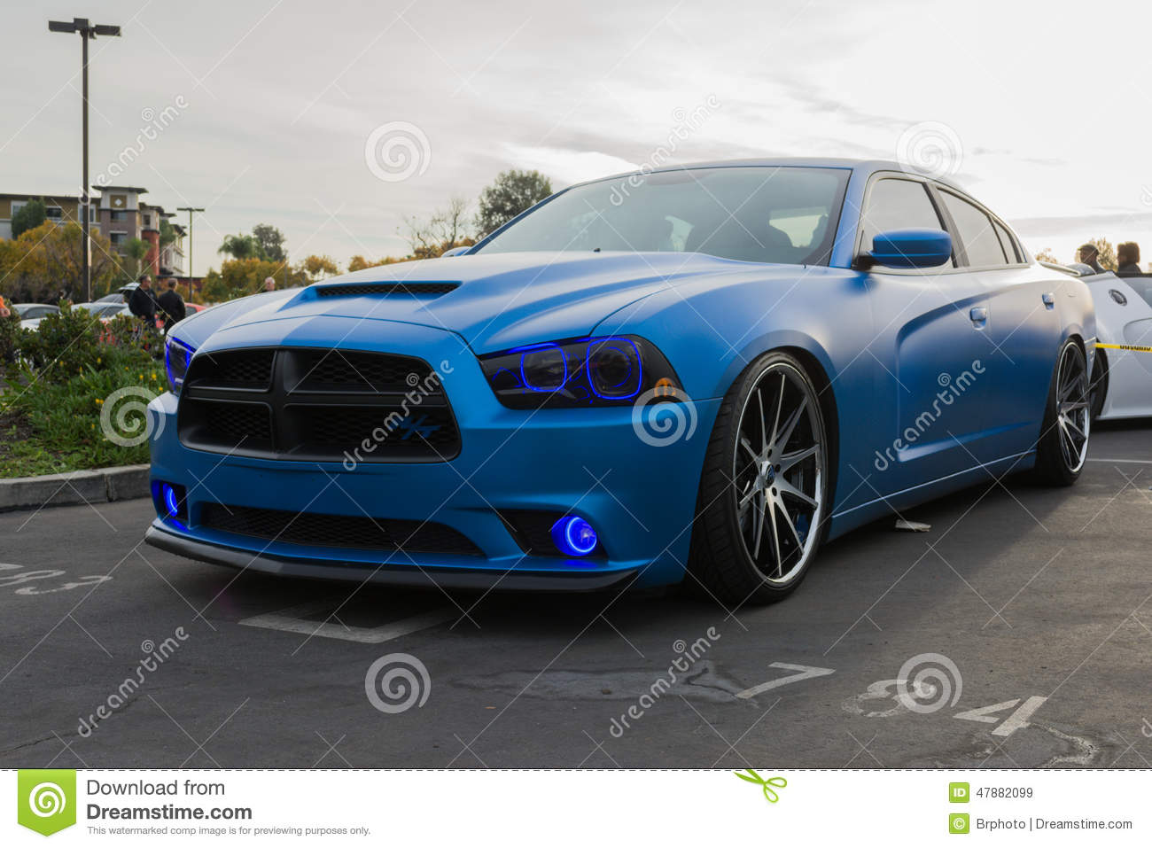 Custom Dodge Charger Rt On Display Editorial Stock Image Image Of Auto Engine 47882099