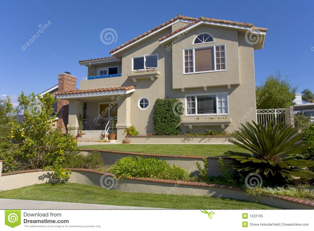 Custom home in newport beach ca royalty free stock photo for Custom beach house