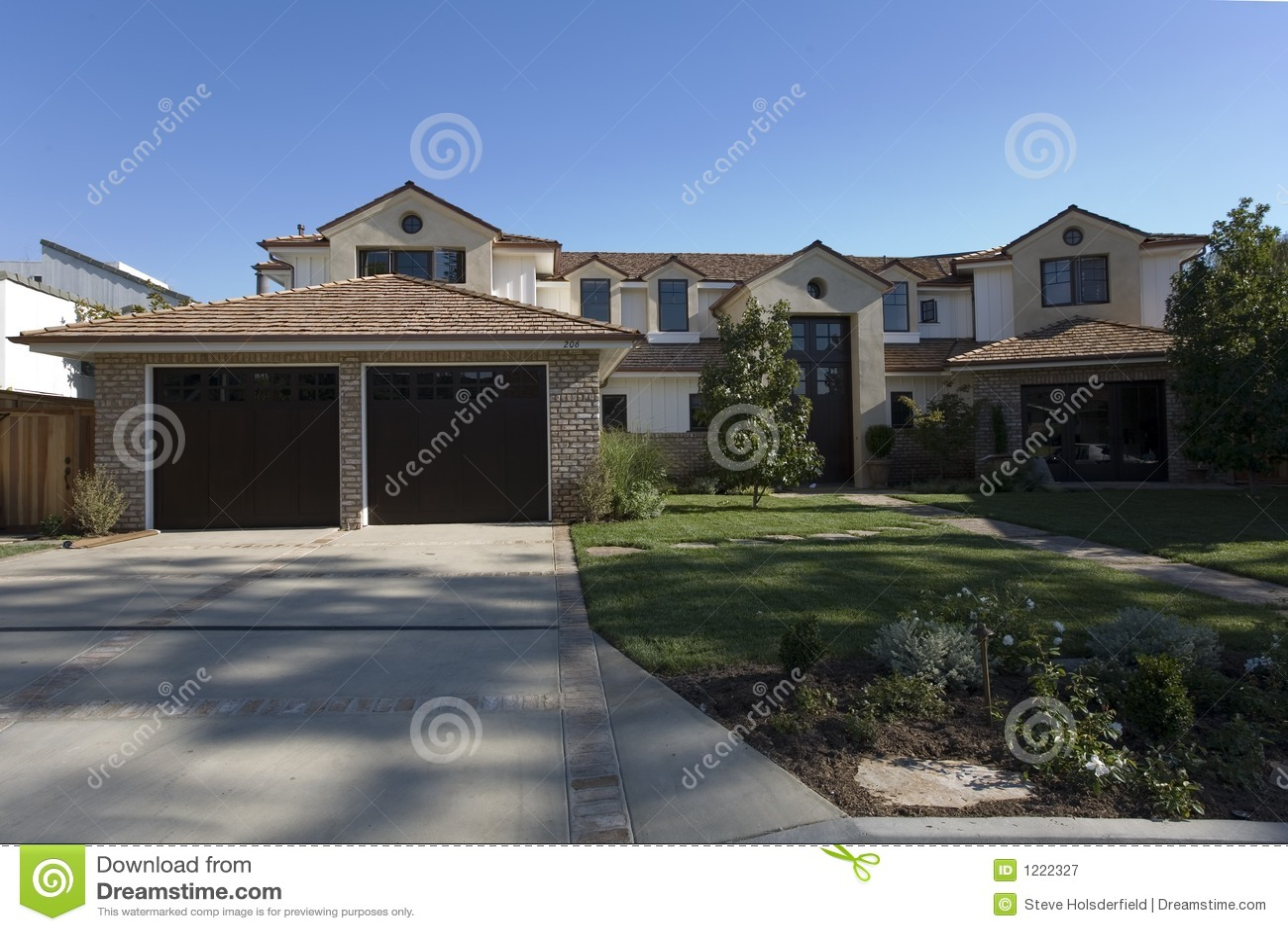 Custom Home In Newport Beach Ca Royalty Free Stock