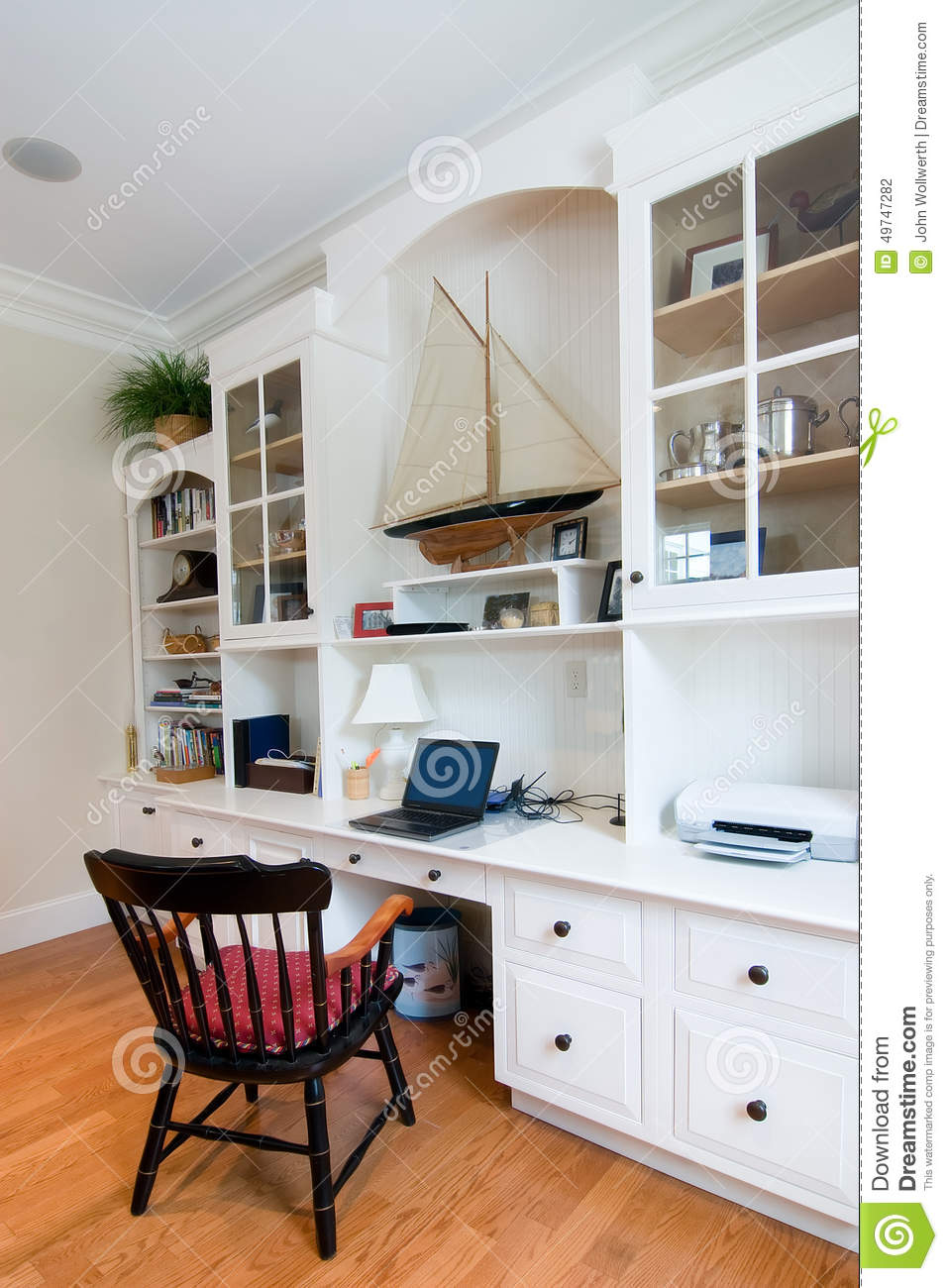 custom home office stock photo image 49747282