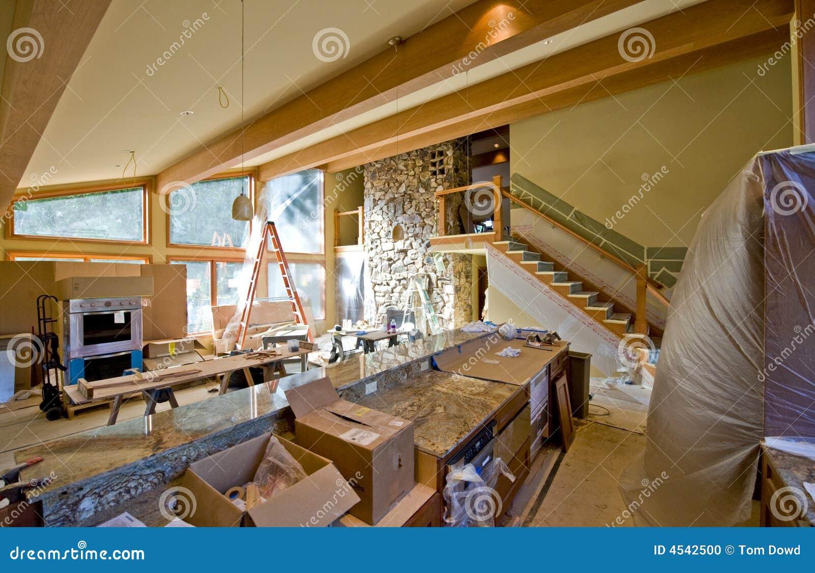 Custom home remodeling stock photo image of modern house for Home finishing