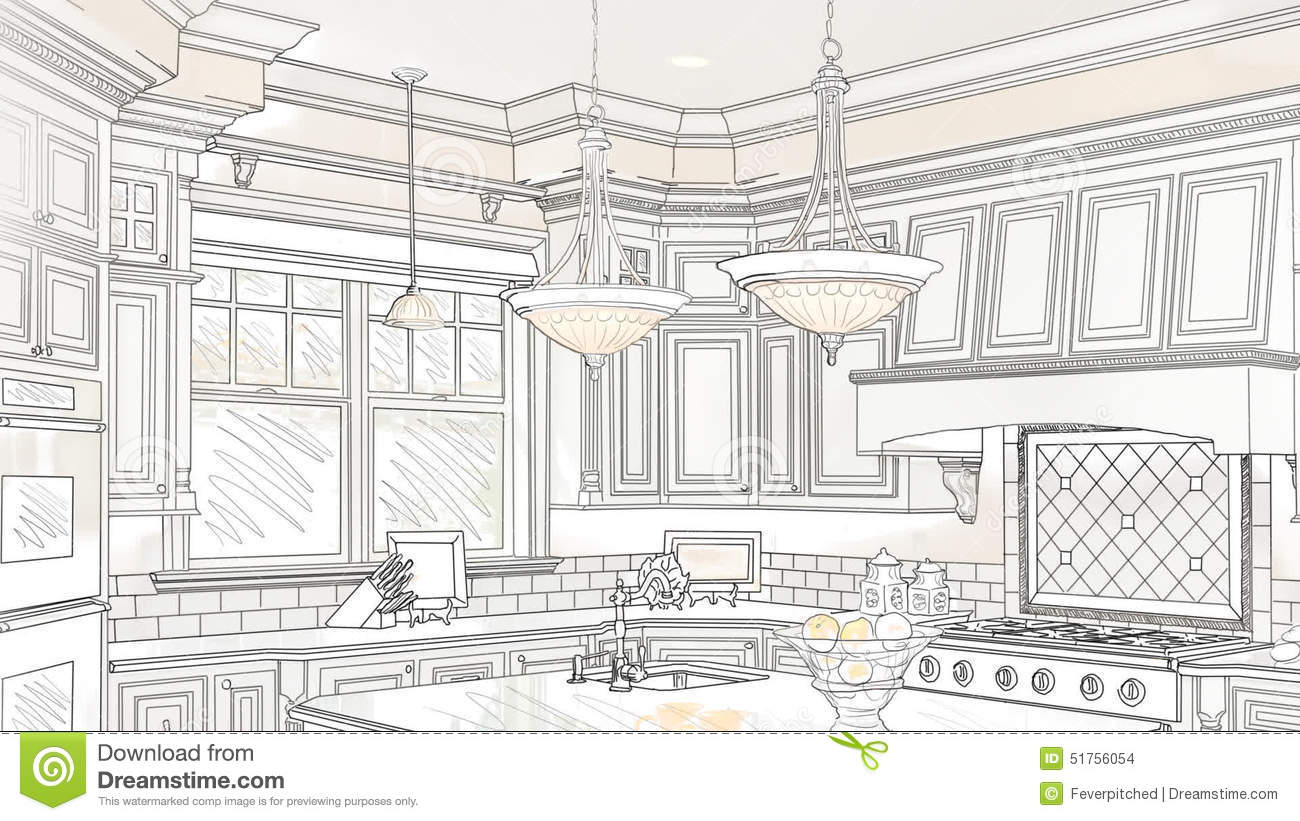 Custom kitchen drawing panning to reveal finished design stock footage video of 1080 home 51756054