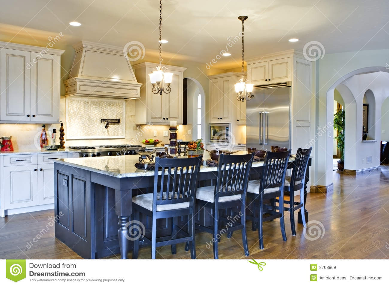 Custom Luxury Kitchen Custom Luxury Kitchen Royalty Free Stock Images  Image 8708869