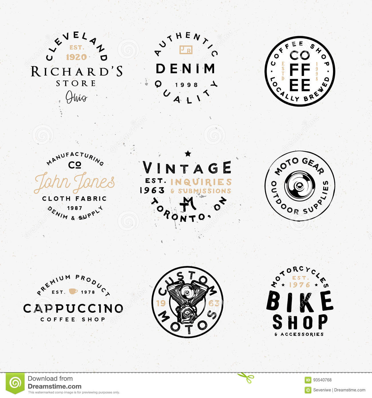 Custom Motos, Bike Shop, Coffee Shop And Other Themes  Stock