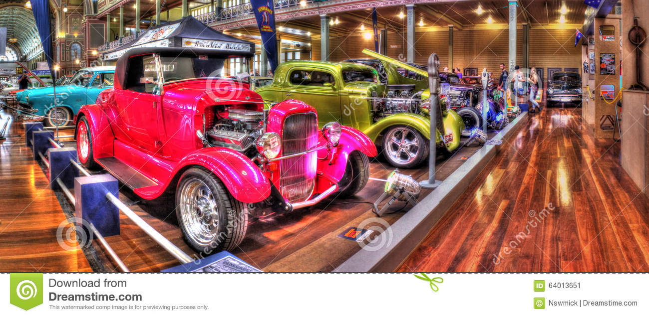 Custom Exhibition Stands Australia : Custom painted hot rods editorial photo image of rusty