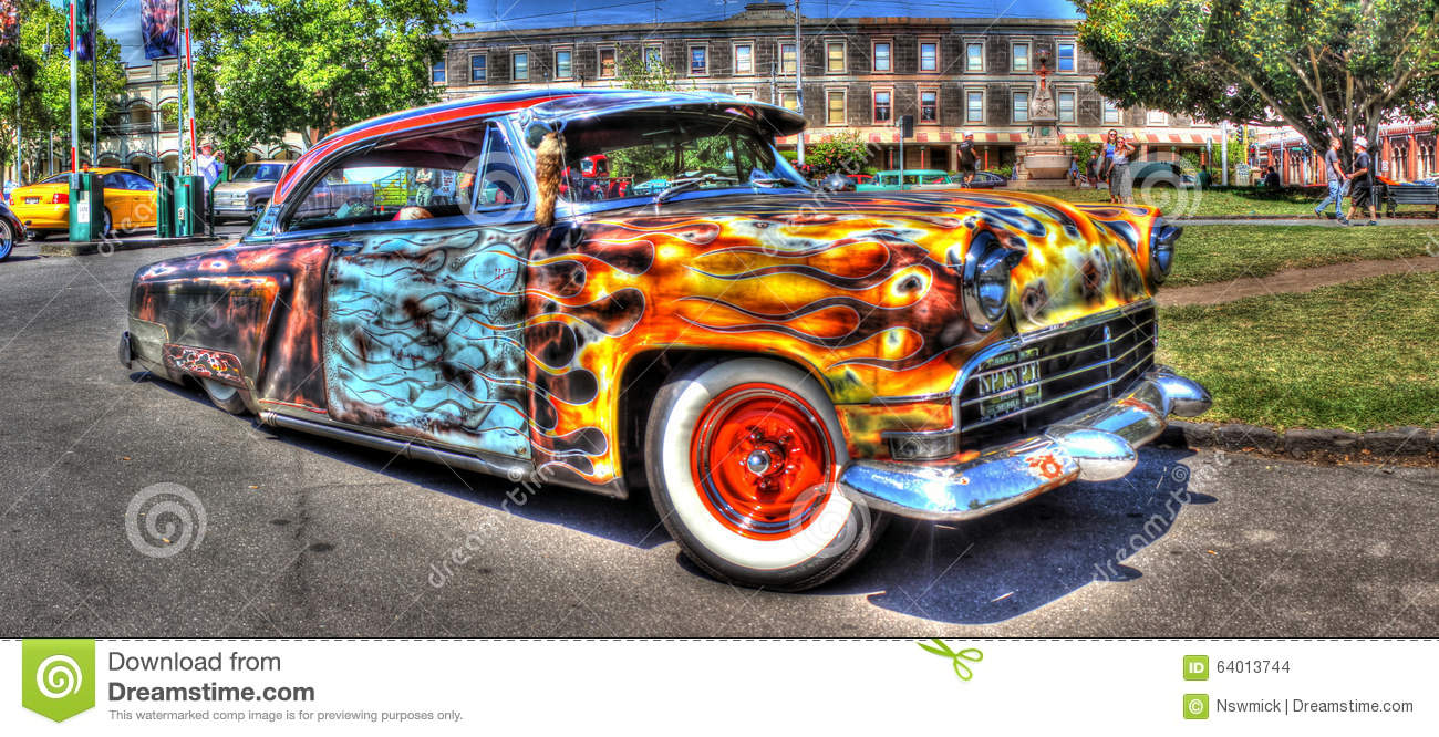 Custom painted rat rod editorial stock image. Image of cartoon ...