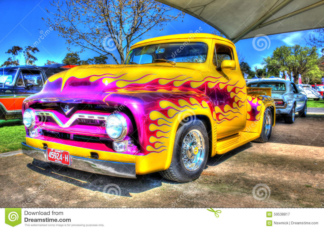 Chevy Truck Commercial Custom Painted V8 Pick Up Truck Editorial Photography ...