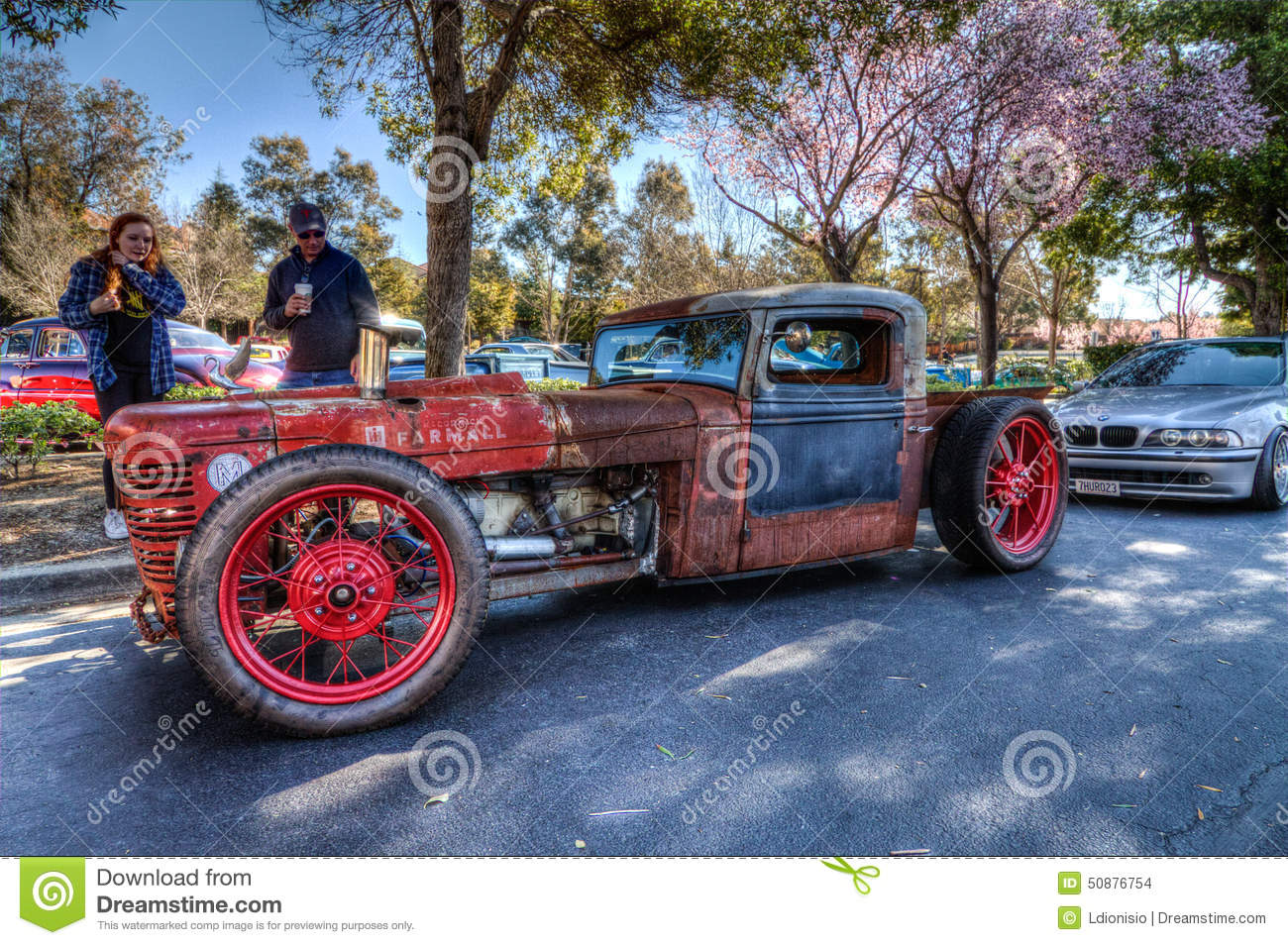 Custom Rat Rod editorial stock image. Image of hemi, cobra - 50876754