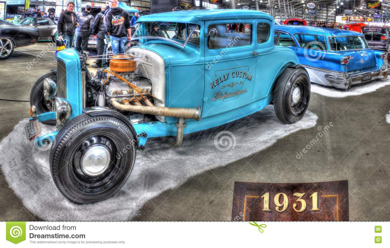 Custom 1930s Ford Model A Hot Rod Editorial Photography - Image of ...