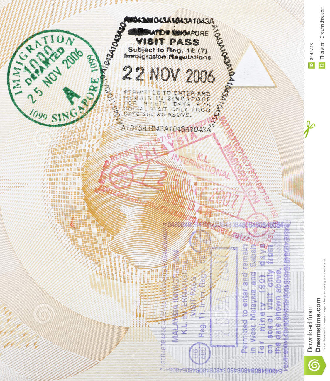 Custom Stamps In Passport