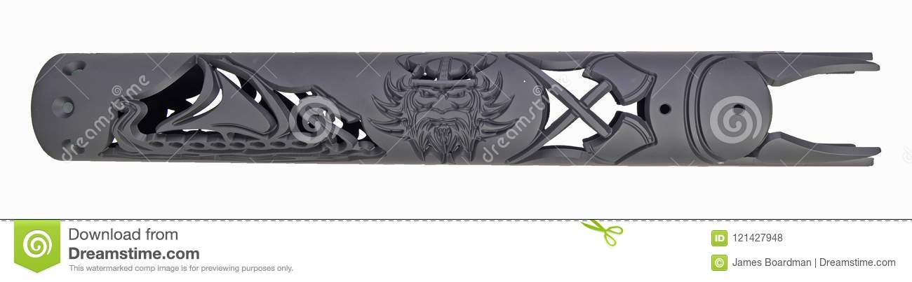 Custom Viking Hand Guard For An AR15 Stock Photo - Image of ship