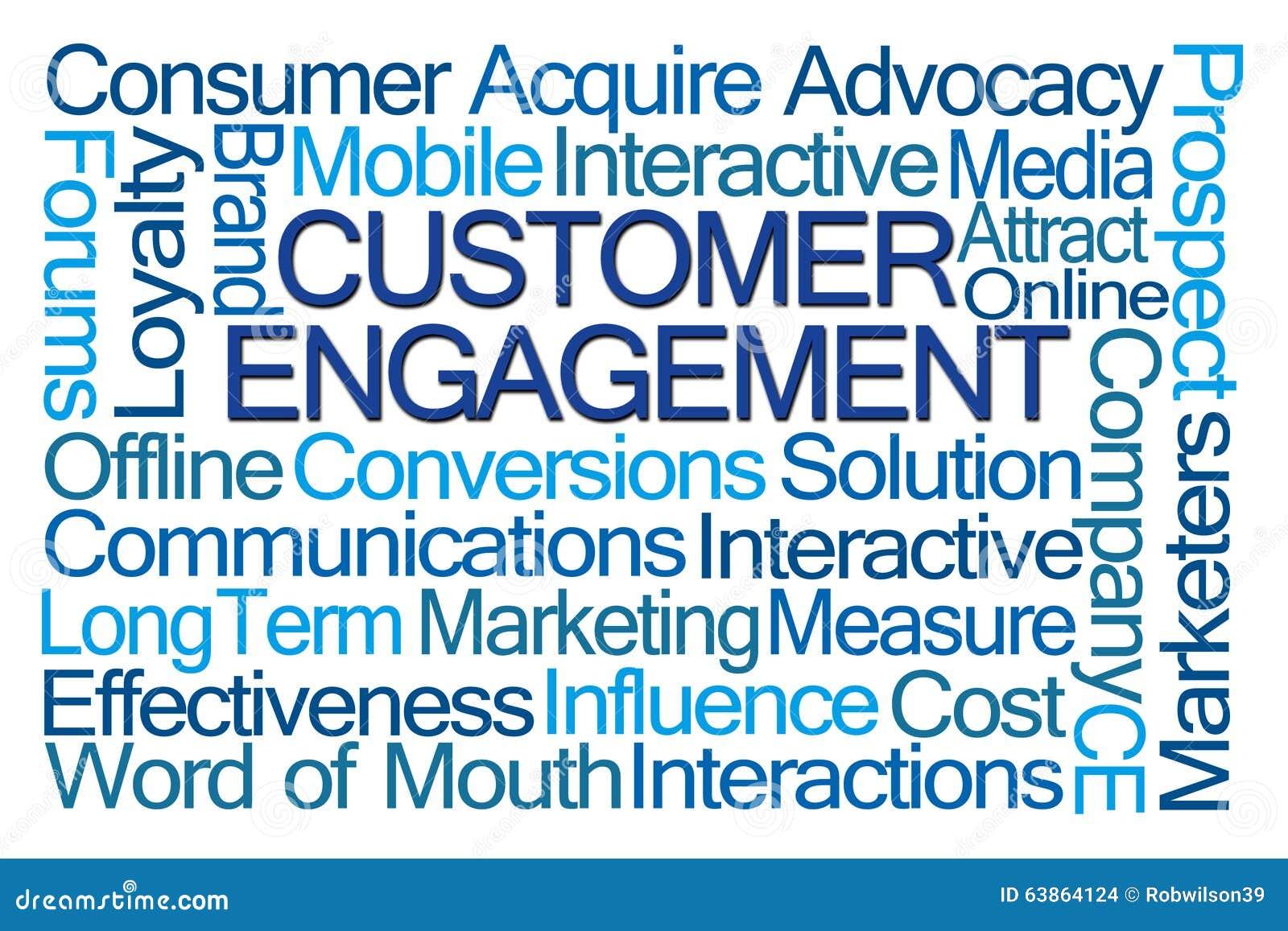 customer engagement word cloud stock illustration