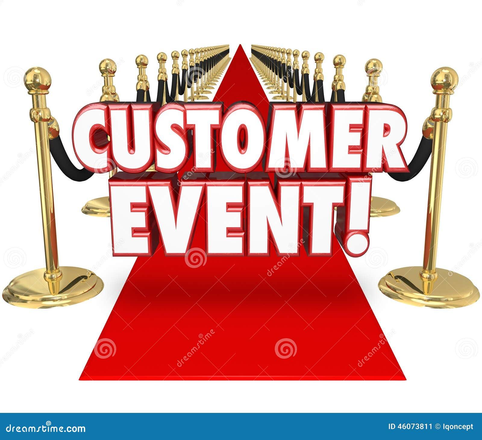Customer Event Appreciation Celebration Red Carpet