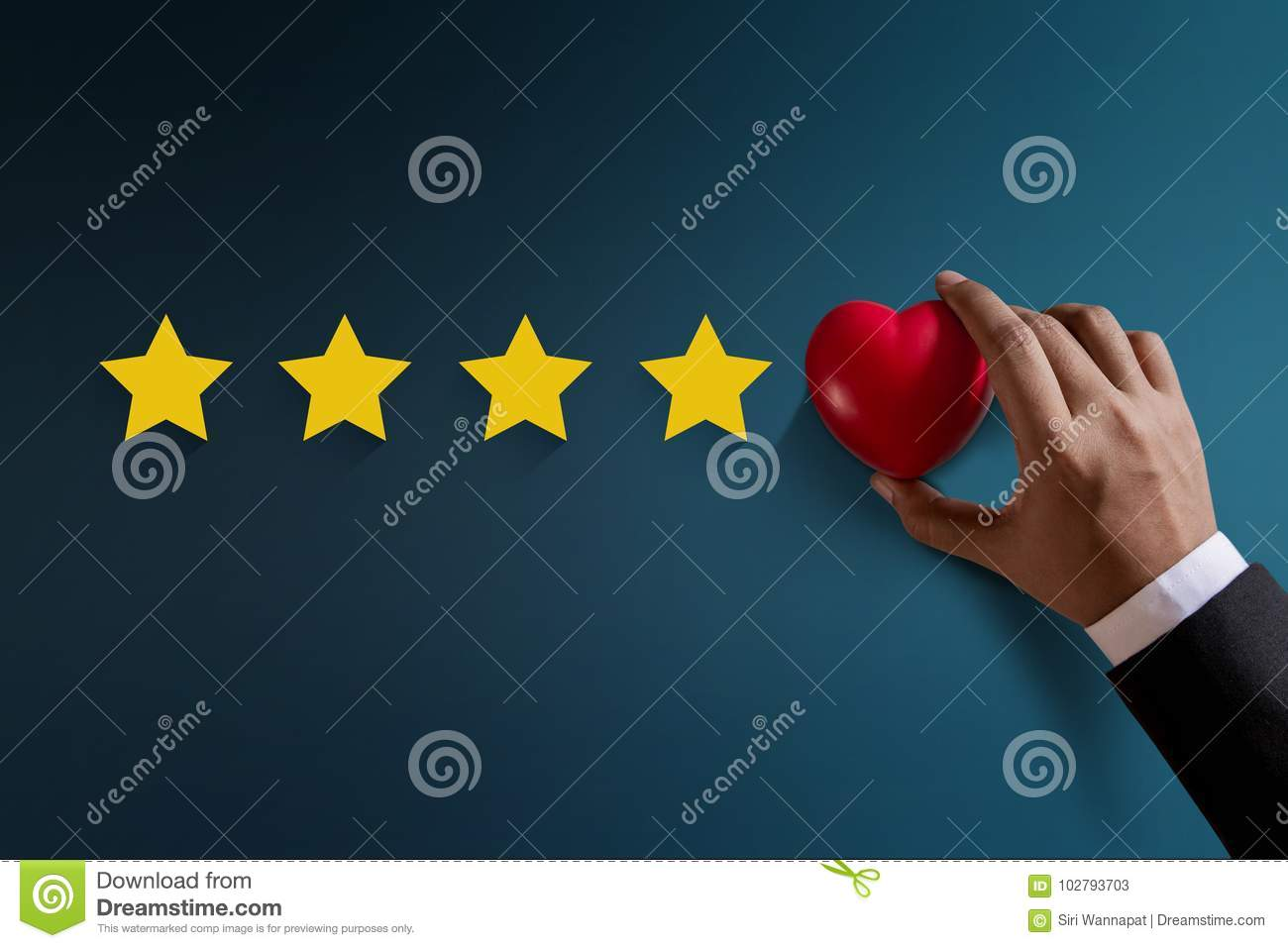Customer Experience Concept, Best Excellent Services Rating for