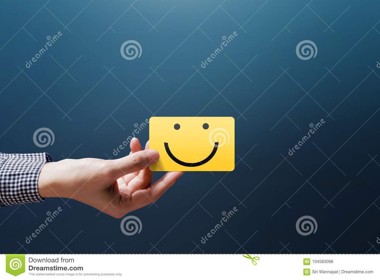 Download Customer Experience Concept Happy Client Woman Show A Feedback Stock Photo