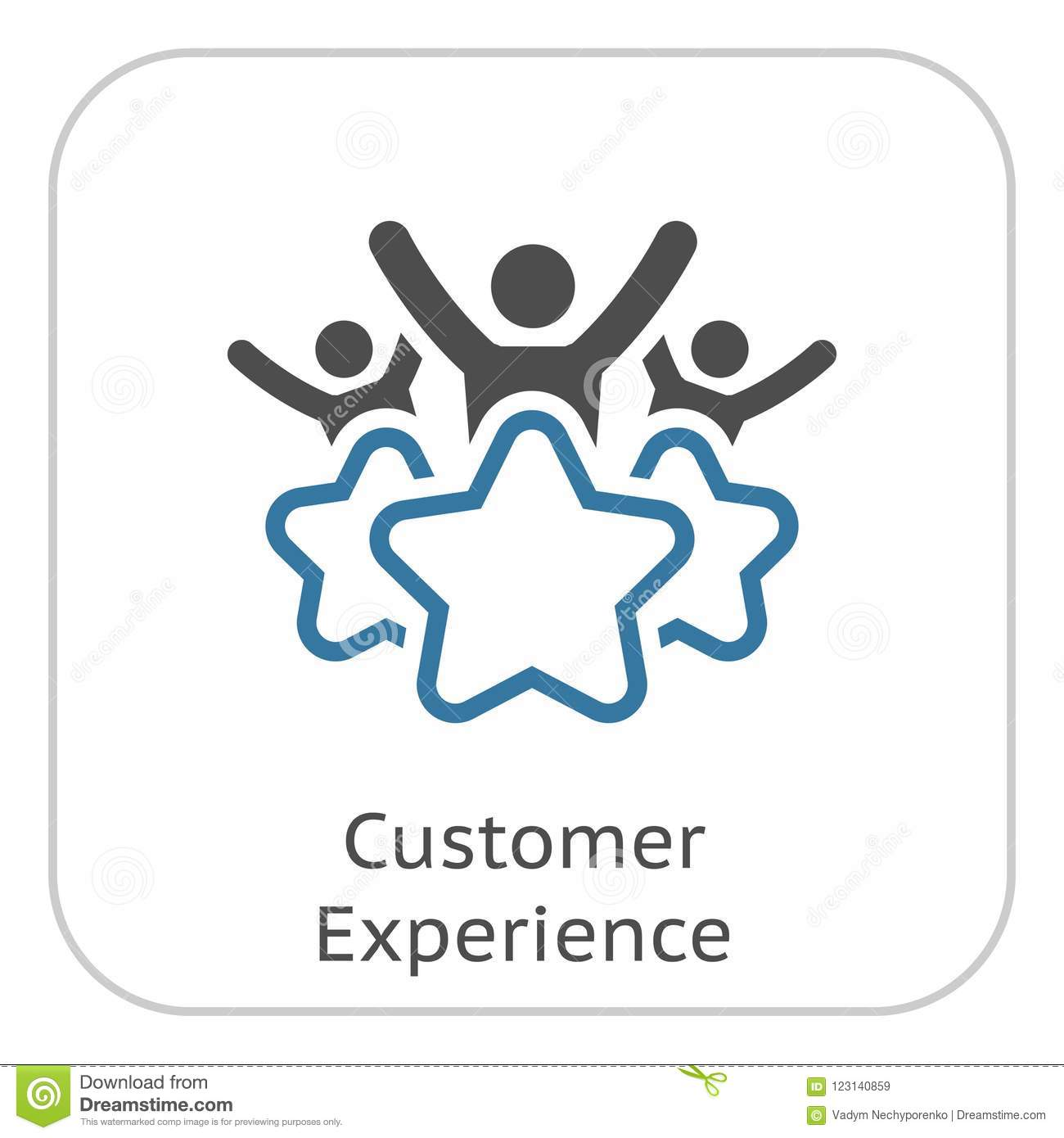 Customer Experience Line Icon Stock Vector