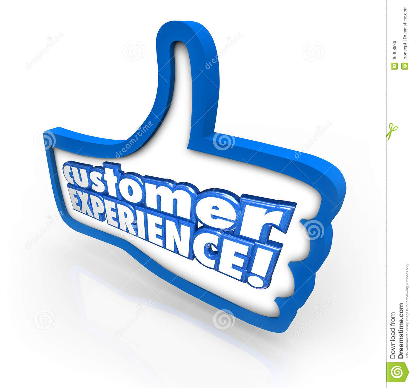 Customer Experience Thumbs Up Symbol Client Satisfaction Enjoyme Stock ...