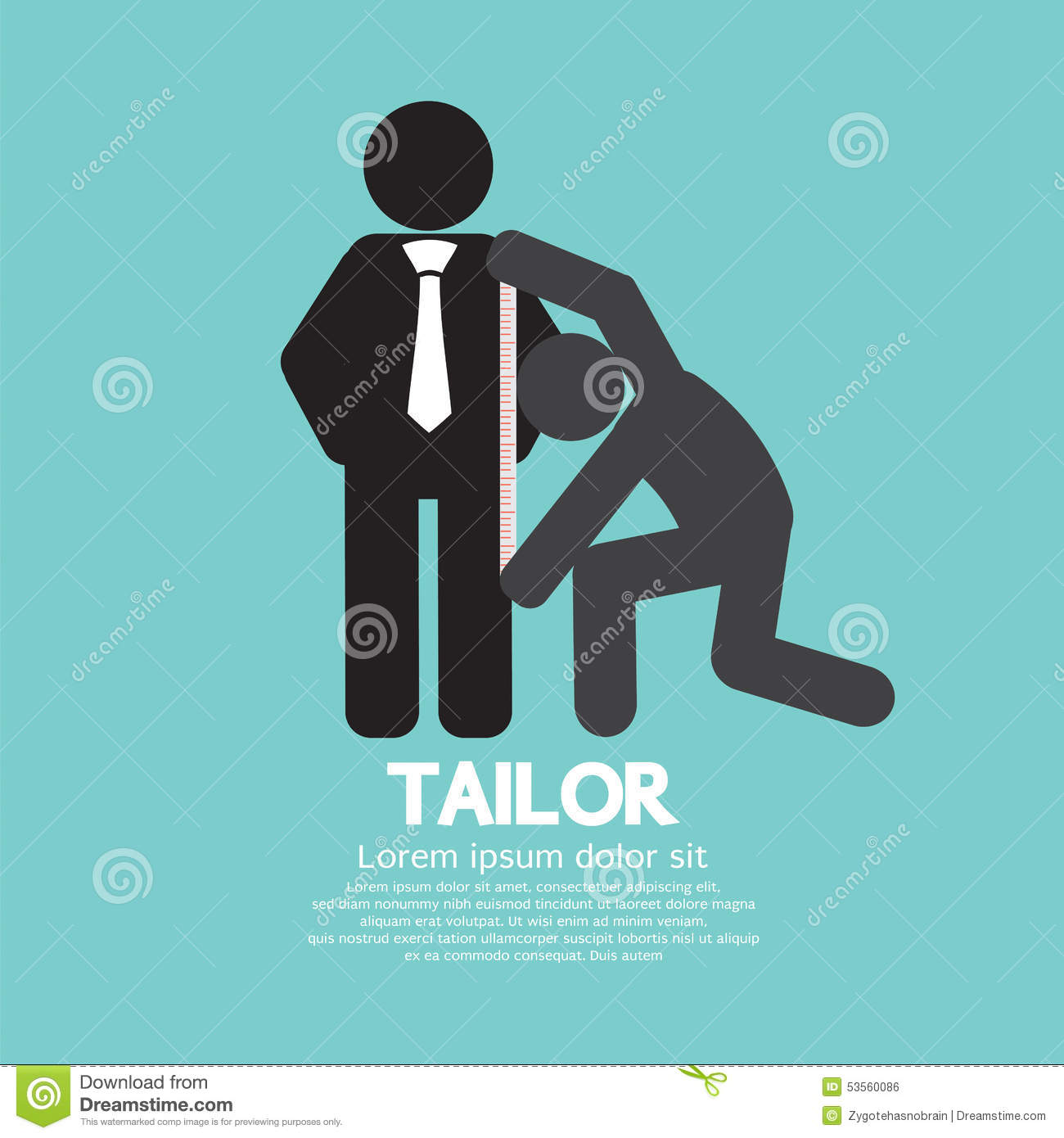 Customer Getting Measure By Tailor Symbol Stock Vector Illustration Of Measurement Business