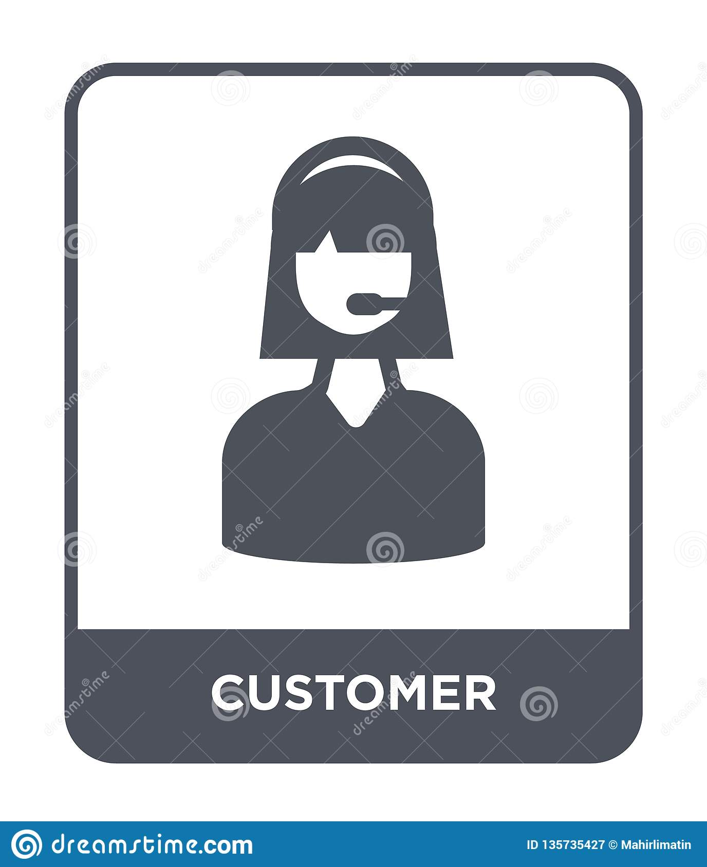 customer icon in trendy design style. customer icon isolated on white background. customer vector icon simple and modern flat