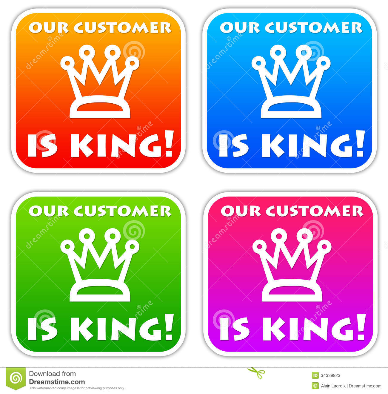 is customer a king of the Purpose: this study aims to examine how the modern marketing expectation of treating the customer like a king can become a source of power differential in societies that already have a predisposition for hierarchical structures.