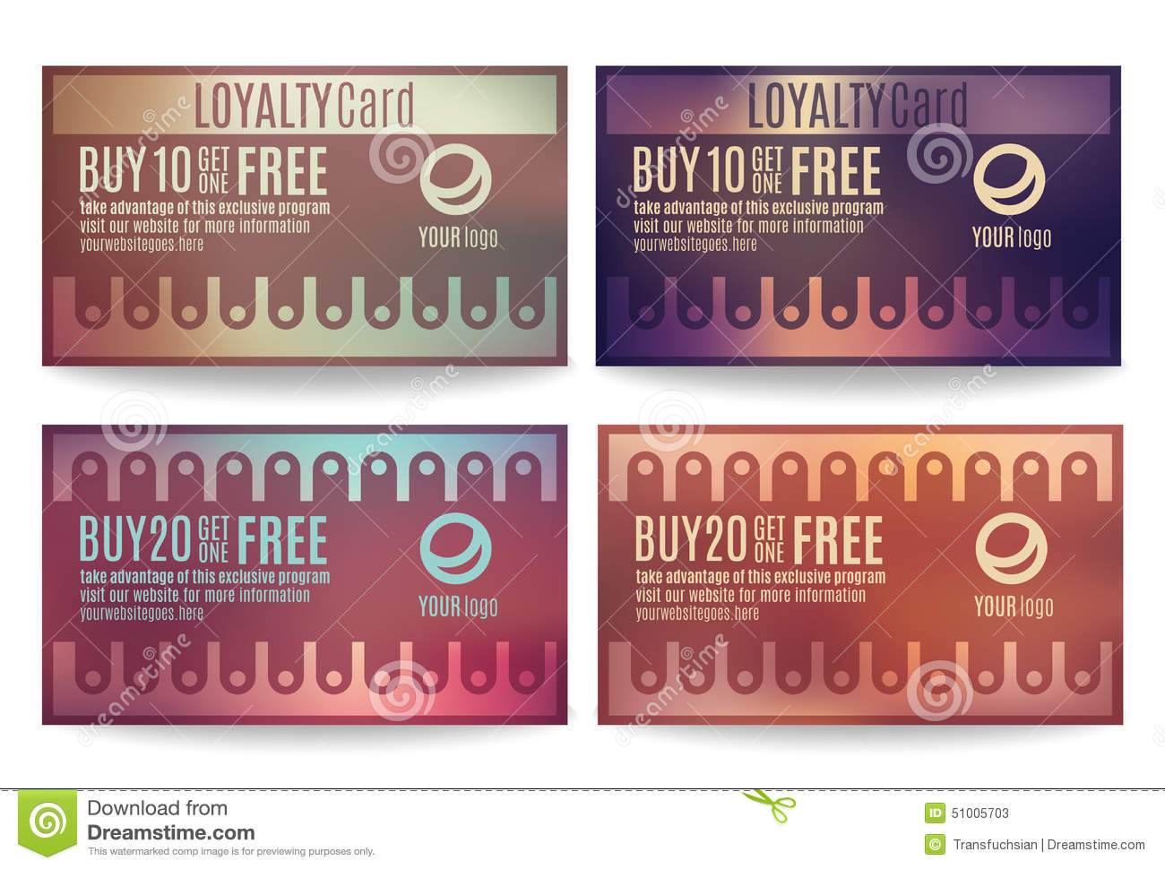 customer loyalty card templates stock vector illustration of