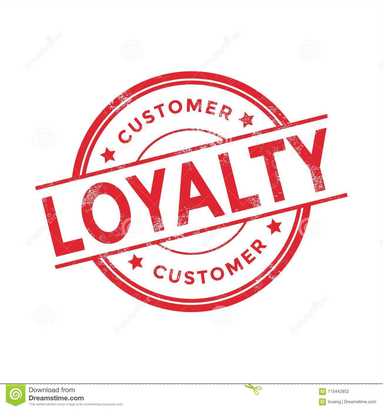Customer Loyalty Red Rubber Stamp On White Background