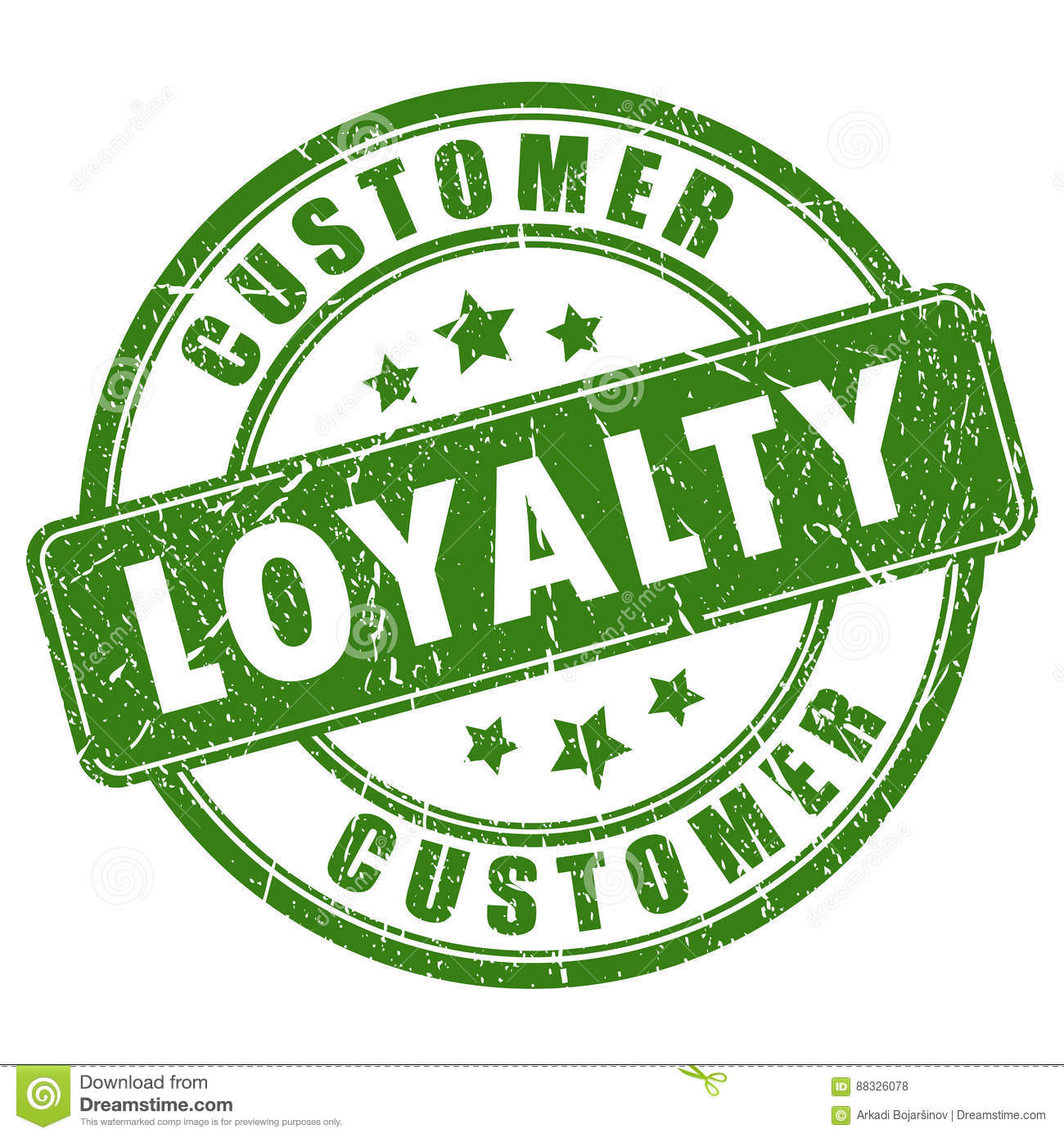 Customer Loyalty Rubber Vector Stamp