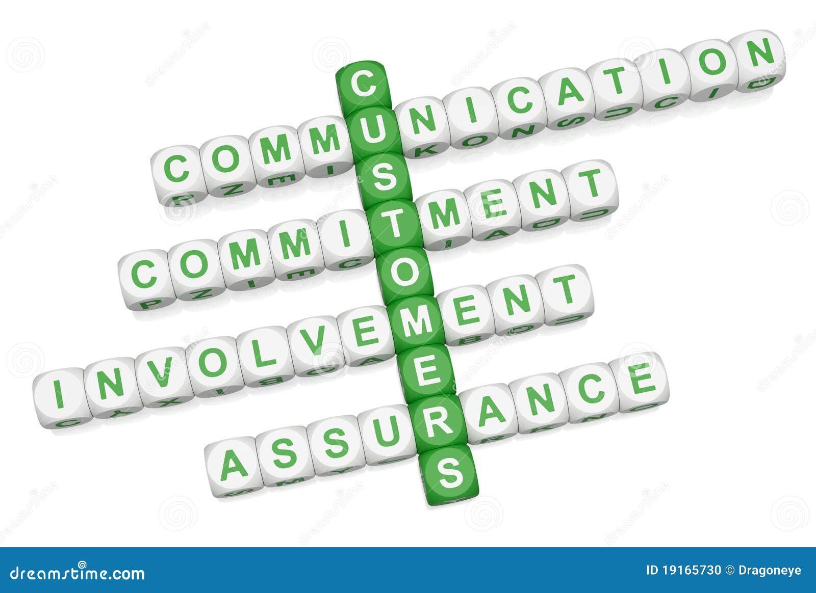 Customer Relations Crossword 3D Stock Photo