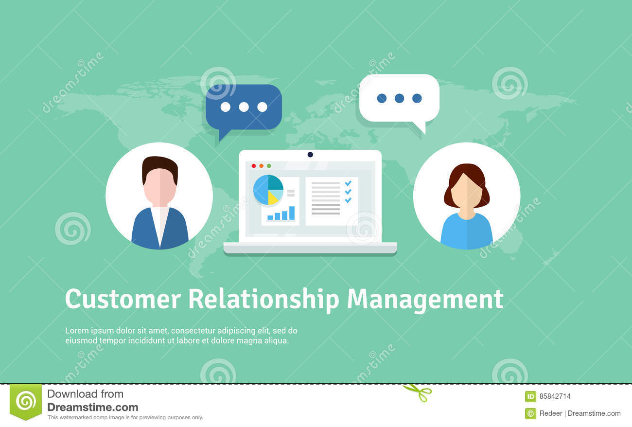 Download Customer Relationship Management Illustration Flat Icons Of Accounting System Clients Support