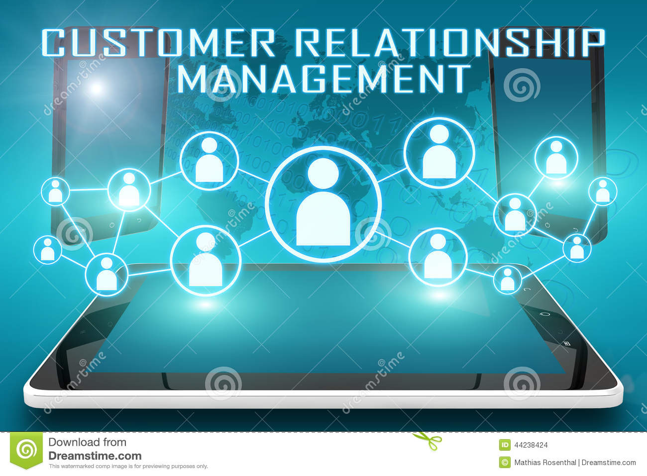 Customer relationship management stock illustration for Relation sociale