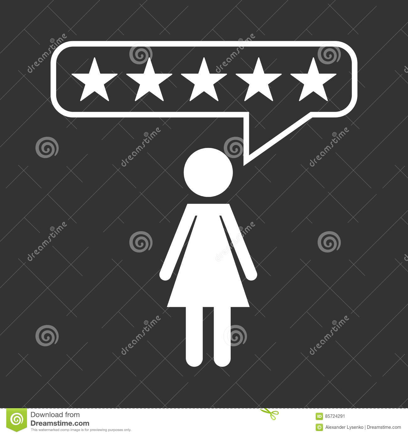 Customer Reviews Rating User Feedback Concept Vector Icon Stock