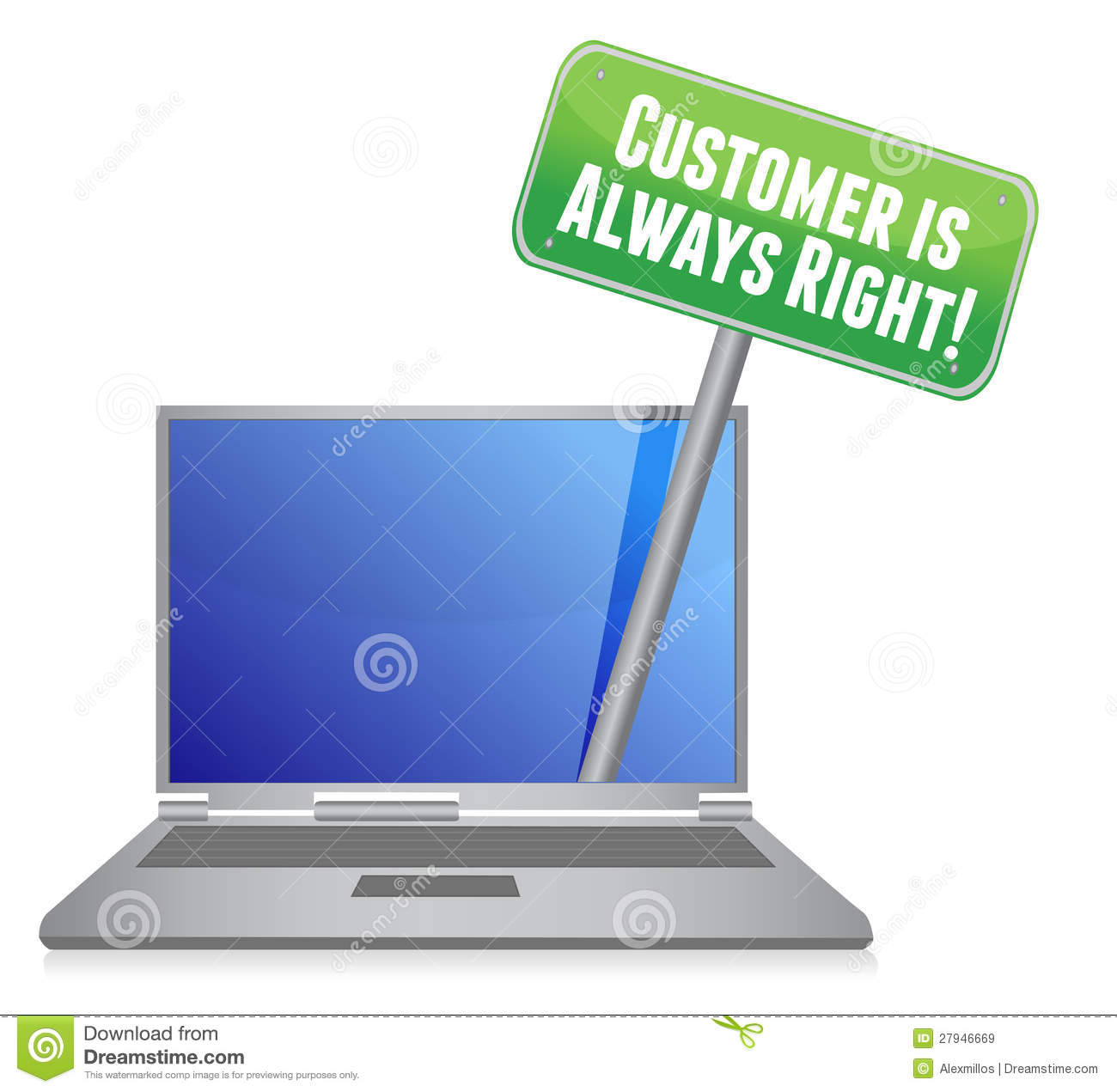 """customer is always right While the phrase was coined in the retail sector, if you're in business today you must have heard the phrase, """"the customer is always right"""" coined by harry gordon selfridge in 1909, the popular phrase was used as a slogan by selfridge's london department store, giving customer satisfaction the highest priority."""