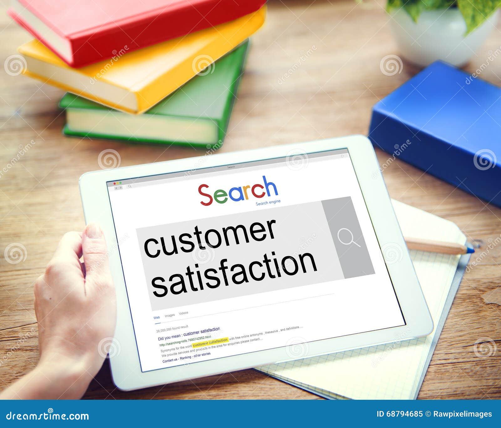 Customer Satisfaction Services Satisfied Concept