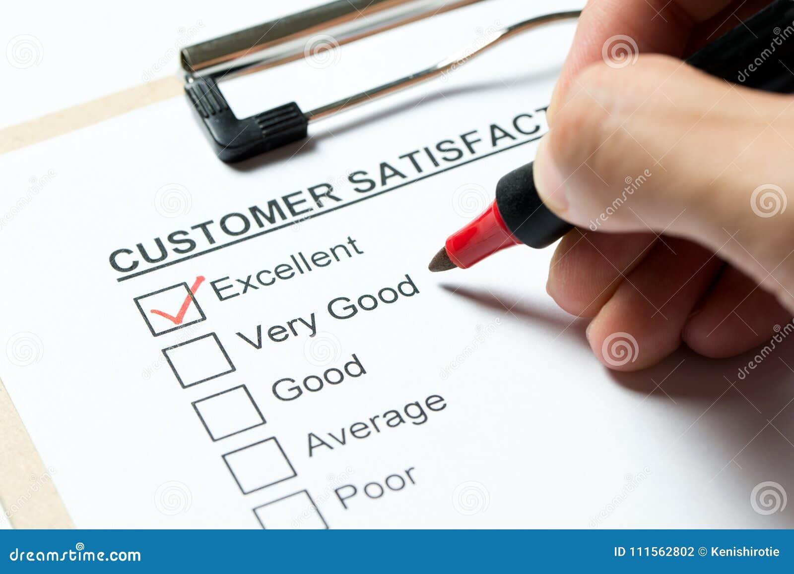 Customer Satisfaction Survey Stock Photo - Image of sheet