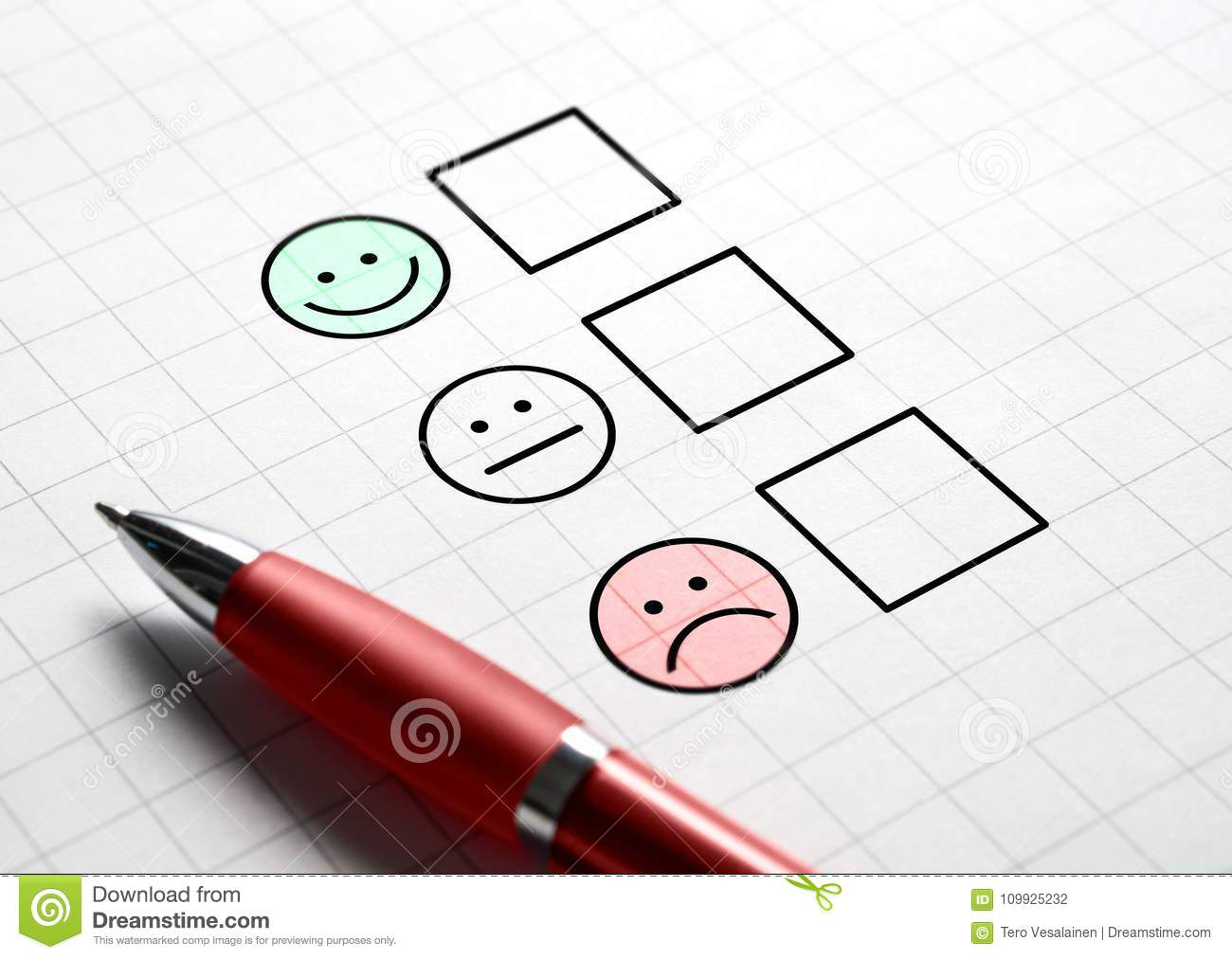 Customer satisfaction survey and questionnaire concept.
