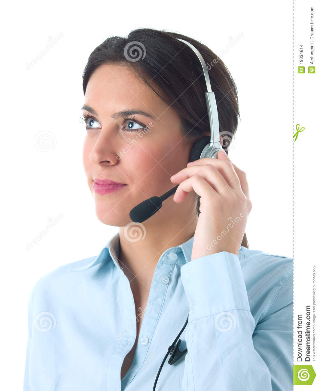 ee36dde566f238 Customer service agent stock photo. Image of woman