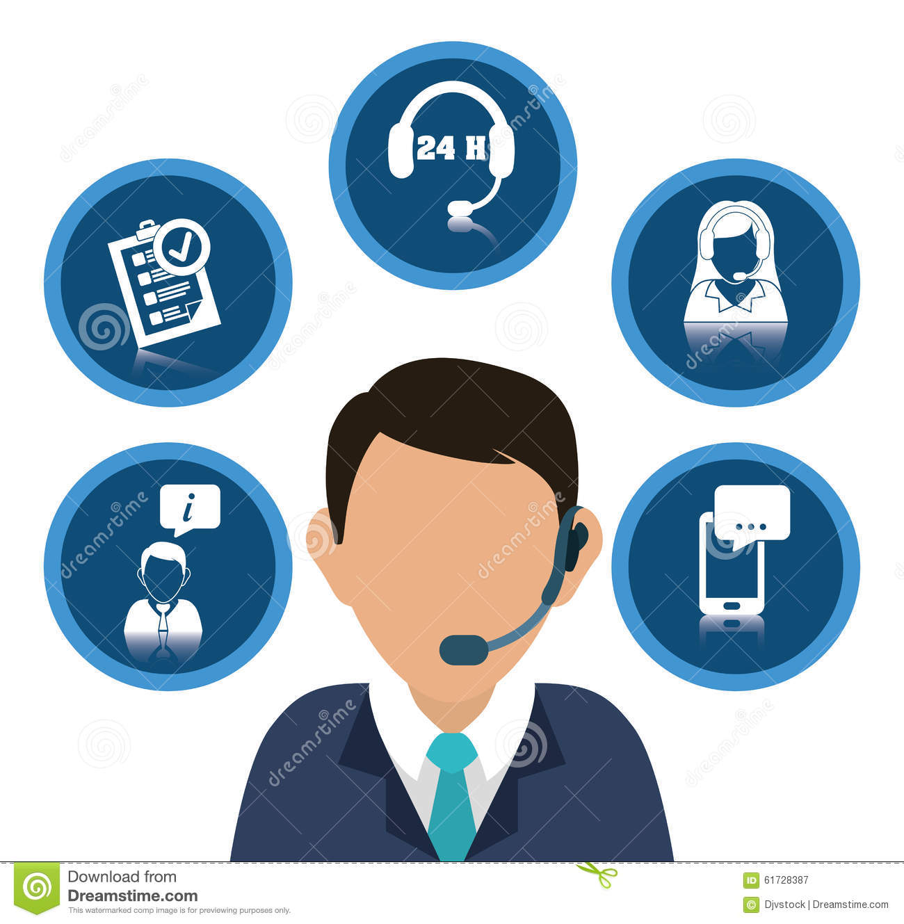 7191d169707 Customer Service And Call Center Stock Vector - Illustration of help ...
