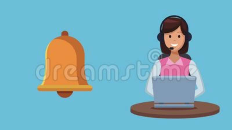 Customer service and call center HD animation  Client, chat