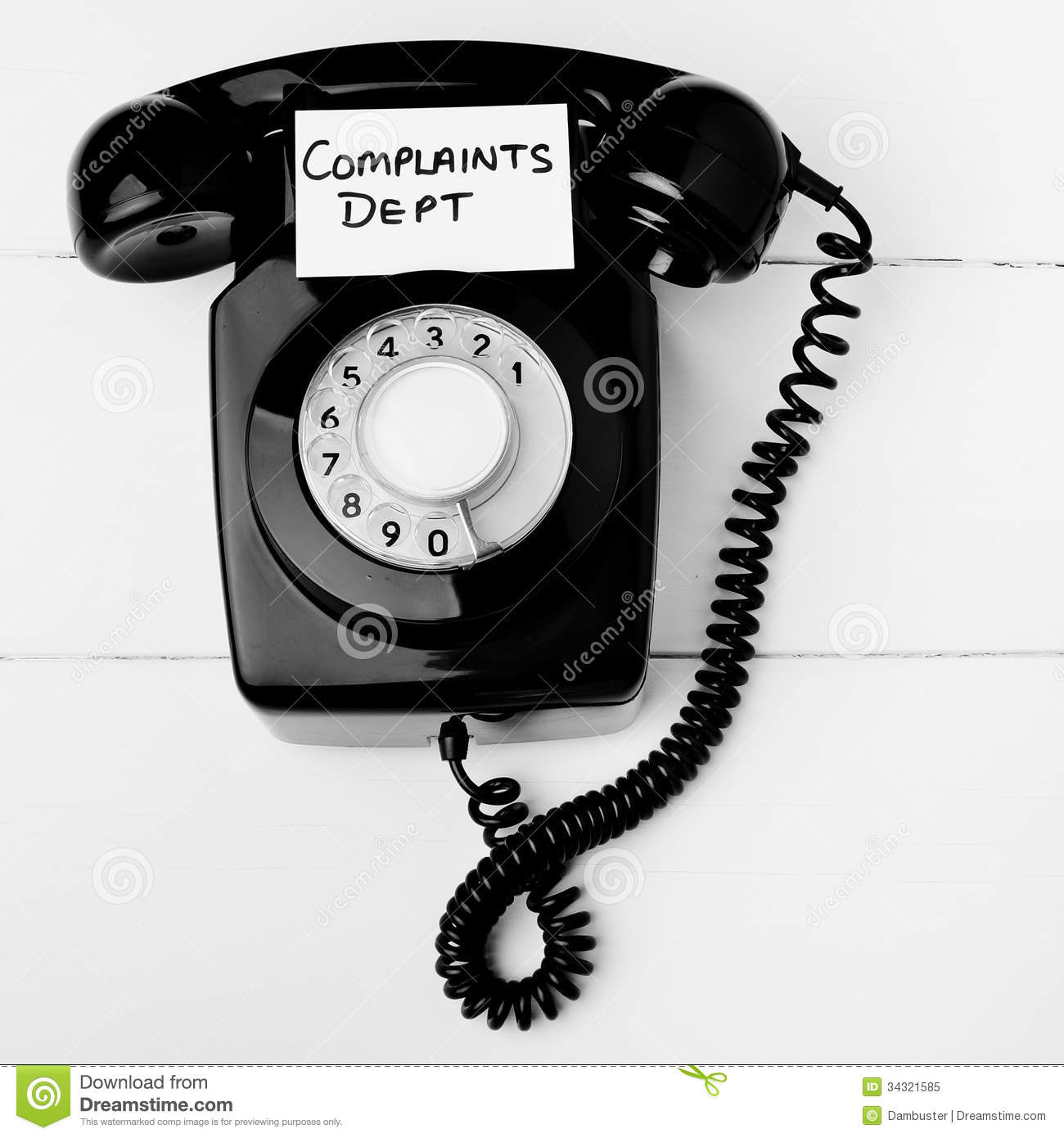 Telephone Repair Service : Customer service complaints department concept stock image
