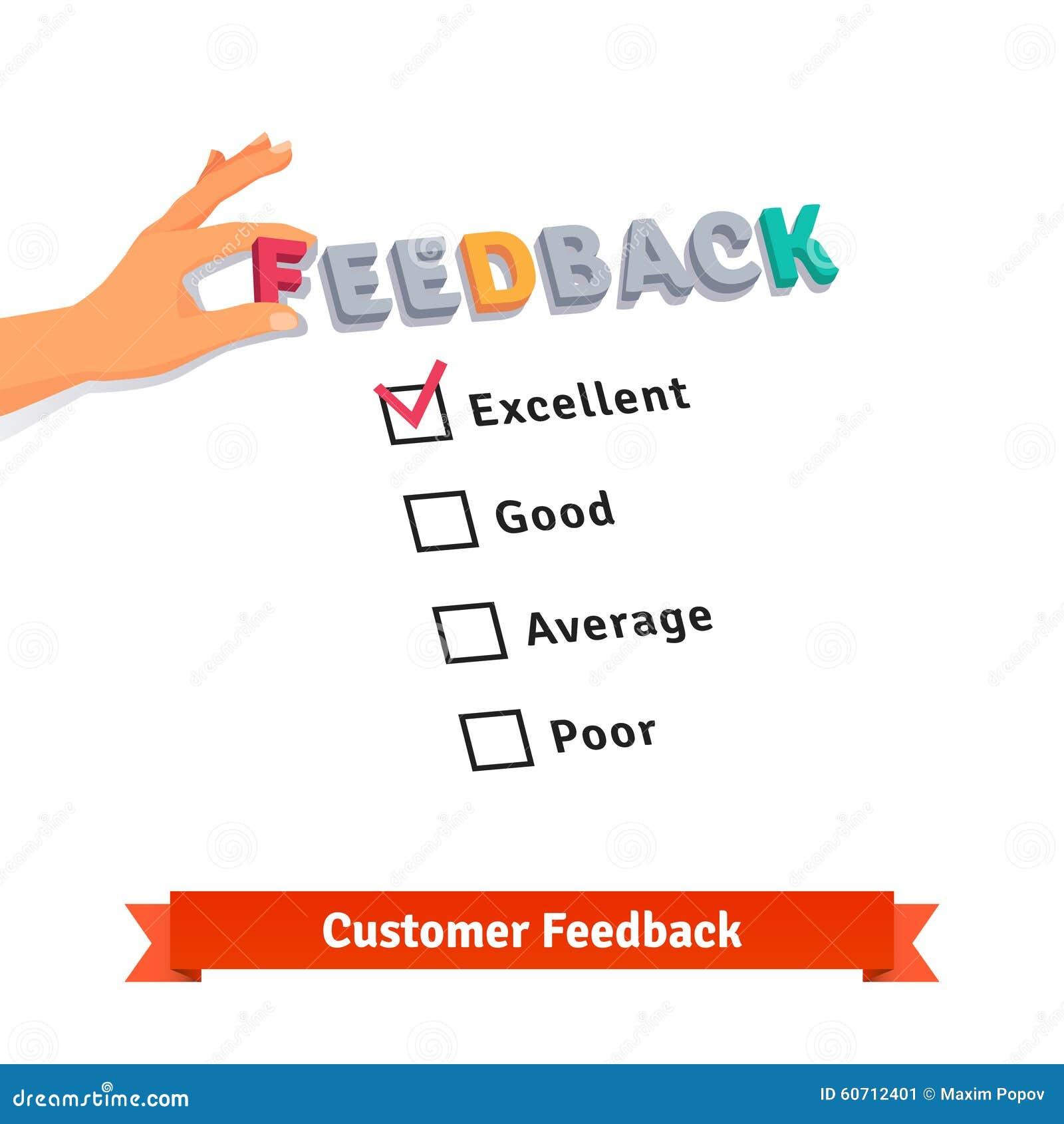 customer service feedback survey logo stock vector